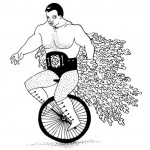 Lucha Libre Unicyclist
